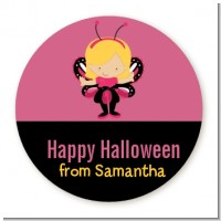 Dress Up Butterfly Costume - Round Personalized Halloween Sticker Labels