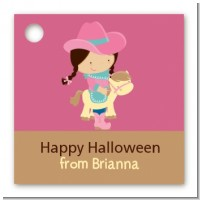 Dress Up Cowgirl Costume - Personalized Halloween Card Stock Favor Tags