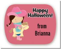 Dress Up Cowgirl Costume - Personalized Halloween Rounded Corner Stickers