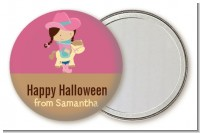 Dress Up Cowgirl Costume - Personalized Halloween Pocket Mirror Favors