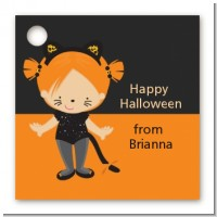 Dress Up Kitty Costume - Personalized Halloween Card Stock Favor Tags