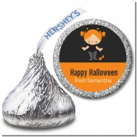 Dress Up Kitty Costume - Hershey Kiss Halloween Sticker Labels