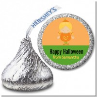 Dress Up Pumpkin Costume - Hershey Kiss Halloween Sticker Labels