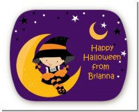 Dress Up Witch Costume - Personalized Halloween Rounded Corner Stickers