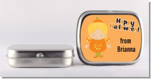 Dress Up Pumpkin Costume - Personalized Halloween Mint Tins