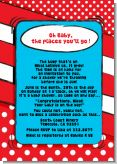 Dr. Seuss Inspired - Baby Shower Invitations