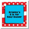 Dr. Seuss Inspired - Personalized Baby Shower Card Stock Favor Tags thumbnail