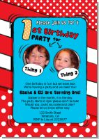 Dr. Seuss Inspired Photo Birthday Invitations