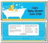 Duck - Personalized Baby Shower Candy Bar Wrappers