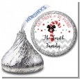 Eat, Drink & Be Merry - Hershey Kiss Christmas Sticker Labels thumbnail