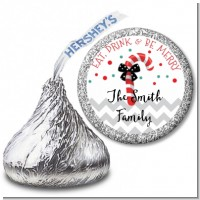Eat, Drink & Be Merry - Hershey Kiss Christmas Sticker Labels