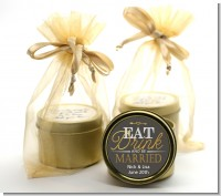 Eat Drink And Be Married - Bridal Shower Gold Tin Candle Favors