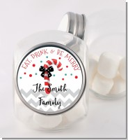 Eat, Drink & Be Merry - Personalized Christmas Candy Jar
