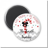 Eat, Drink & Be Merry - Personalized Christmas Magnet Favors