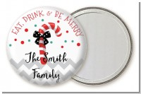 Eat, Drink & Be Merry - Personalized Christmas Pocket Mirror Favors