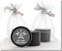 Eiffel Tower - Bridal Shower Black Candle Tin Favors