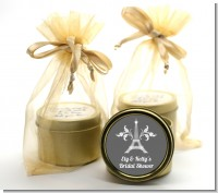 Eiffel Tower - Bridal Shower Gold Tin Candle Favors