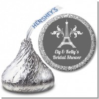 Eiffel Tower - Hershey Kiss Bridal Shower Sticker Labels