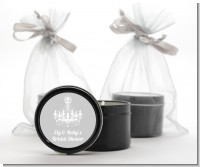 Elegant Chandelier - Bridal Shower Black Candle Tin Favors