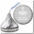 Elegant Chandelier - Hershey Kiss Bridal Shower Sticker Labels thumbnail