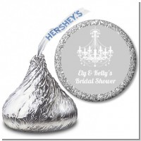 Elegant Chandelier - Hershey Kiss Bridal Shower Sticker Labels
