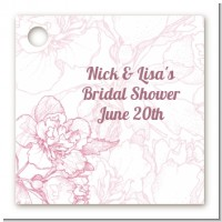 Elegant Flowers - Personalized Bridal Shower Card Stock Favor Tags