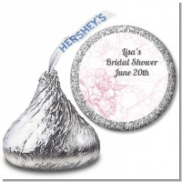 Elegant Flowers - Hershey Kiss Bridal Shower Sticker Labels
