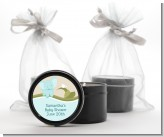 Elephant Baby Blue - Baby Shower Black Candle Tin Favors