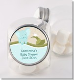 Elephant Baby Blue - Personalized Baby Shower Candy Jar