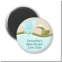 Elephant Baby Blue - Personalized Baby Shower Magnet Favors