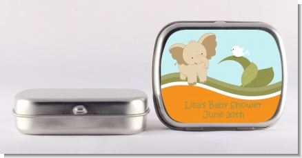 Elephant Baby Neutral - Personalized Baby Shower Mint Tins