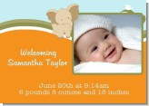 Elephant Baby Neutral - Birth Announcement Photo Card