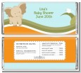 Elephant Baby Neutral - Personalized Baby Shower Candy Bar Wrappers thumbnail