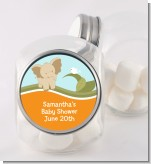 Elephant Baby Neutral - Personalized Baby Shower Candy Jar
