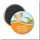 Elephant Baby Neutral - Personalized Baby Shower Magnet Favors