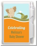 Elephant Baby Neutral - Baby Shower Personalized Notebook Favor