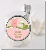 Elephant Baby Pink - Personalized Baby Shower Candy Jar