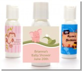 Elephant Baby Pink - Personalized Baby Shower Lotion Favors