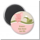 Elephant Baby Pink - Personalized Baby Shower Magnet Favors