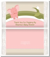 Elephant Baby Pink - Personalized Popcorn Wrapper Baby Shower Favors