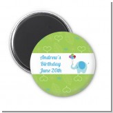 Elephant Blue - Personalized Birthday Party Magnet Favors