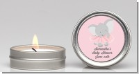 Elephant Pink Tutu - Baby Shower Candle Favors