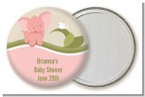 Elephant Baby Pink - Personalized Baby Shower Pocket Mirror Favors