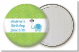 Elephant Blue - Personalized Birthday Party Pocket Mirror Favors
