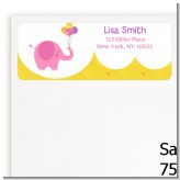 Elephant Pink - Birthday Party Return Address Labels