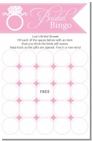Engagement Ring Blush Pink - Bridal Shower Gift Bingo Game Card