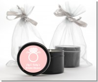 Engagement Ring - Bridal Shower Black Candle Tin Favors