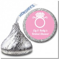 Engagement Ring - Hershey Kiss Bridal Shower Sticker Labels
