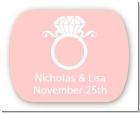 Engagement Ring - Personalized Bridal Shower Rounded Corner Stickers