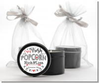 Enjoy Fresh Popcorn - Bridal Shower Black Candle Tin Favors